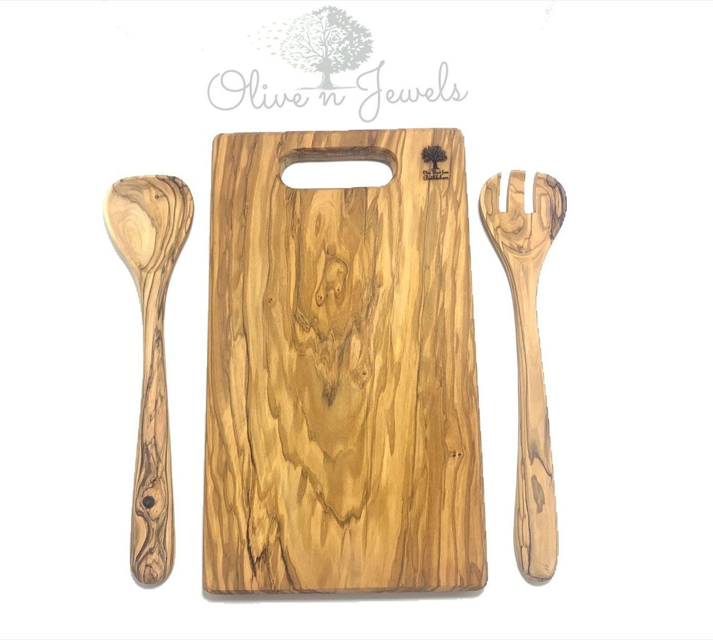 Cutting Board & Kitchen Utensils