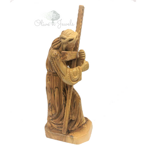 Jesus Carrying Cross Olive Wood