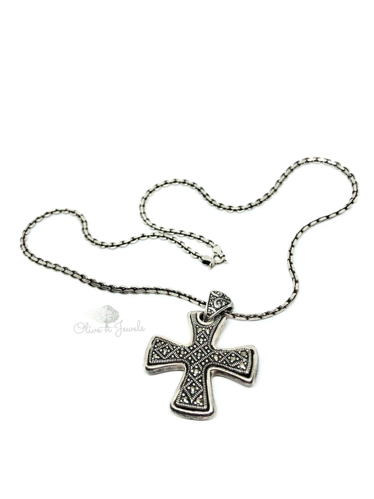 Crusader Cross Marcasite Crystals