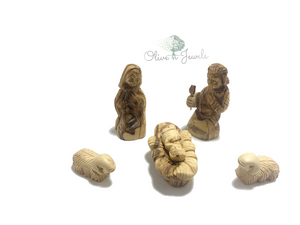 Six Piece Holy Family & Sheep Figures