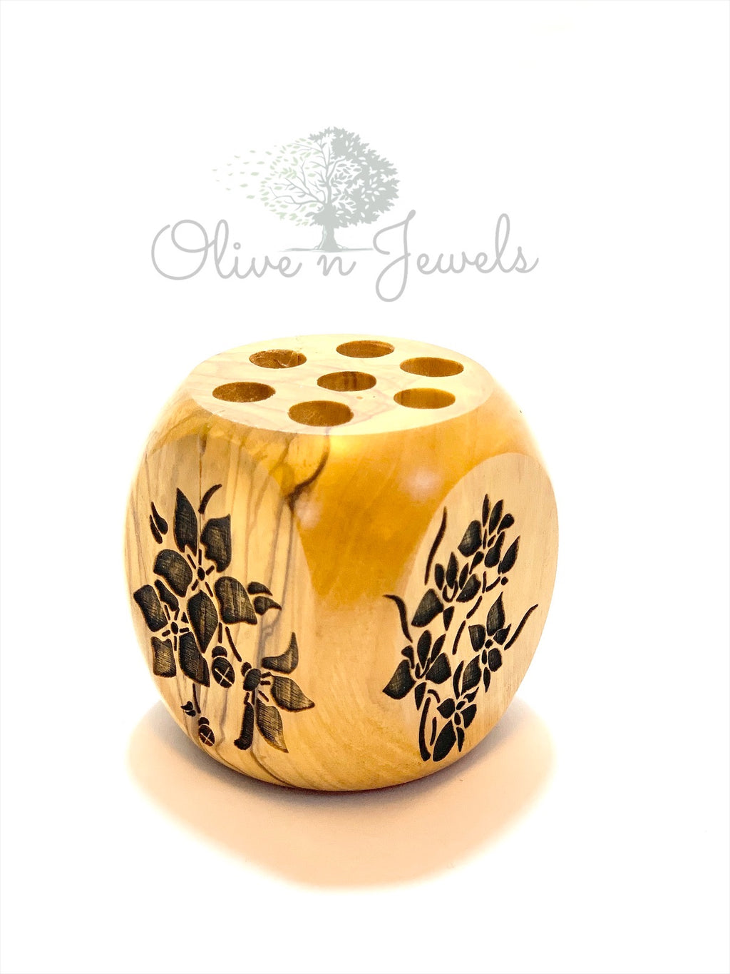 Pen Holder Olive Wood