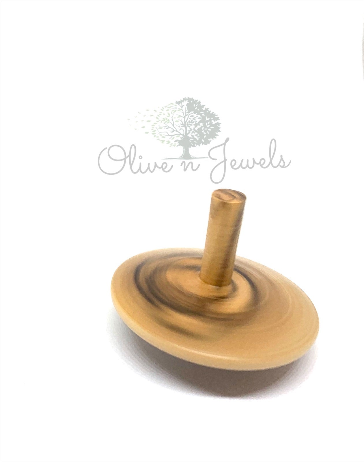 Olive Wood Spinning Top