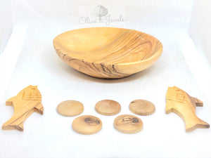 Fish & Loaves Olive Wood