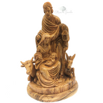 Holy Family Lantern Olive Wood
