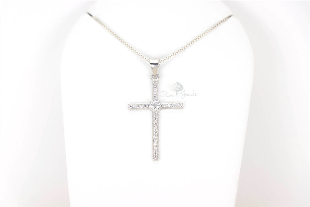 Zirconia Cross Pendant
