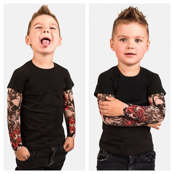 Kinder T-Shirt met tattoo sleeves