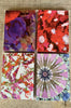 4 silk notebooks with assorted patterns