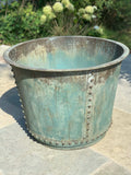 X. Large Verdigris planter for outside