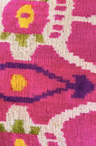 Pink Silk velvet ikat cushion/REDUCED