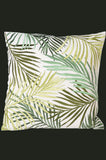 Embroidered leaf cushion / REDUCED