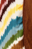 Rainbow Silk Ikat Cushion