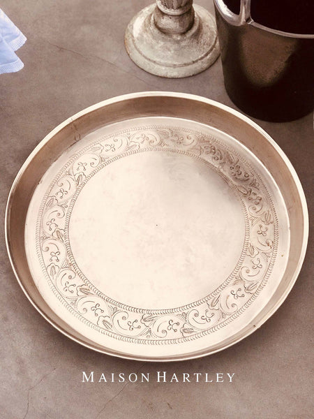Etched Round Tray