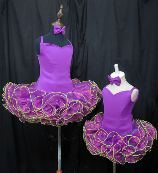 """National Pageant Dress shell Bustle /& Bow /& HairBow /""""ANY COLOR/"""""""