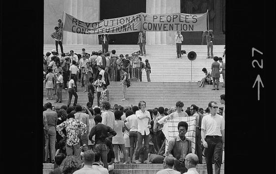 Black panthers protest