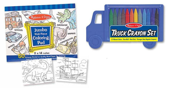 Coloring Book & Crayon Set - Boy