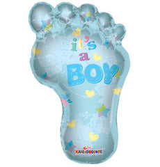 it's a boy, blue foot balloon, 36inch
