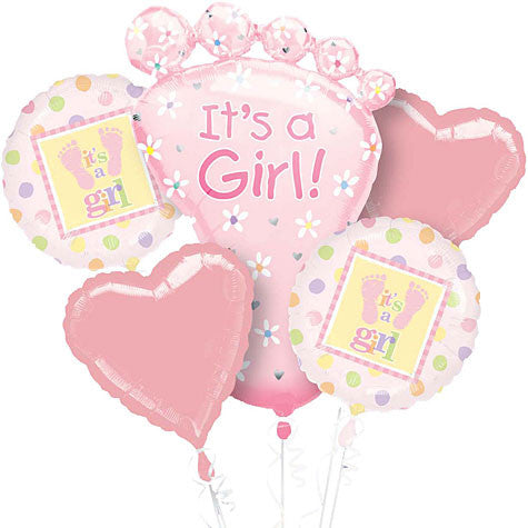 It's a Baby Girl Balloon Bouquet
