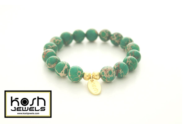 WILD LACE SIGNATURE BEADED BRACELET - 10mm