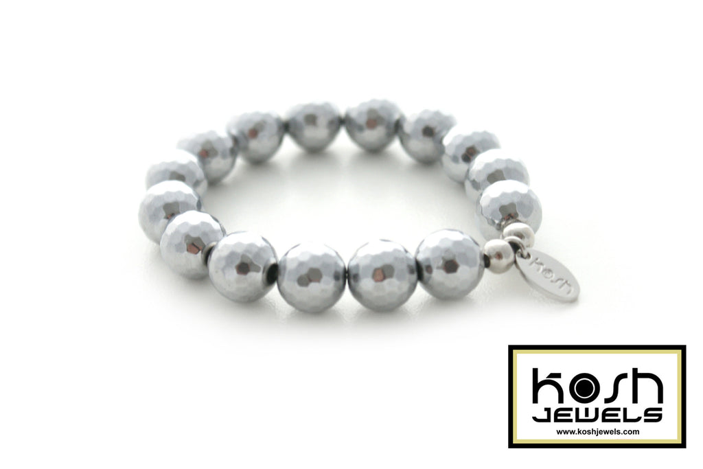 SONA SILVER SIGNATURE BEADED BRACELET