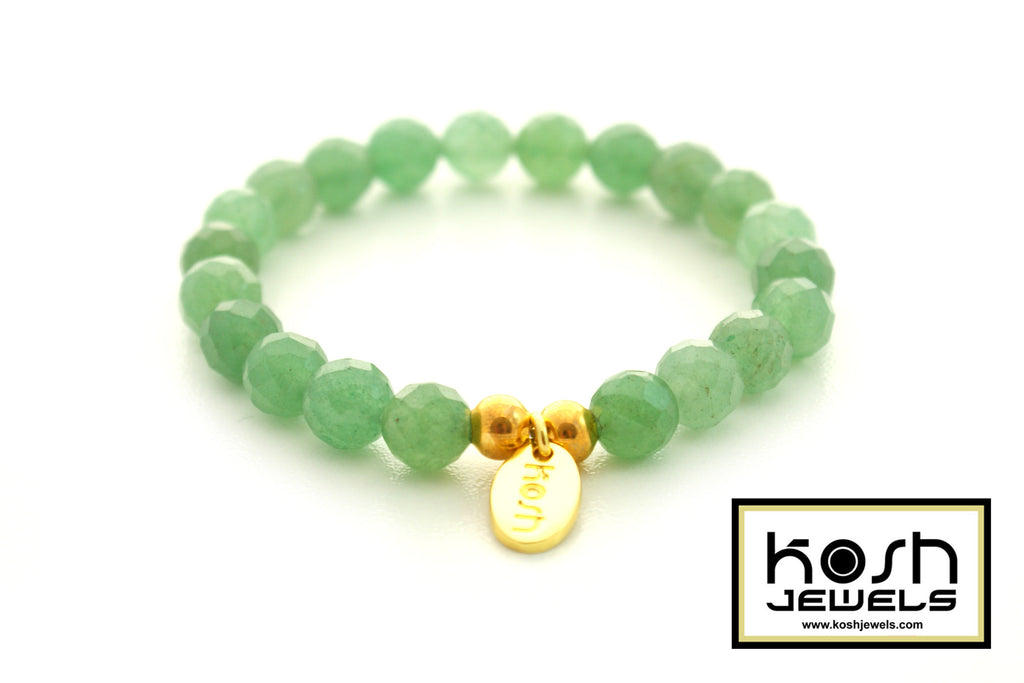 MINI AVENTURINE SIGNATURE BEADED BRACELET
