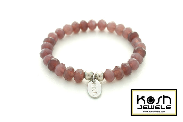 MINI-PURPLE QUARTZ SIGNATURE BEADED BRACELET