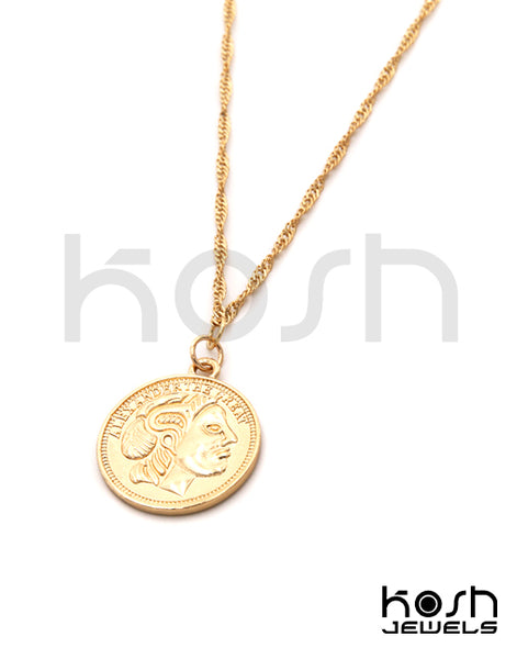 COIN PENDANT NECKLACE - ALEXANDER