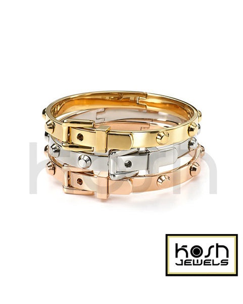 STEEL 'BUCKLE RIVET' Bangle