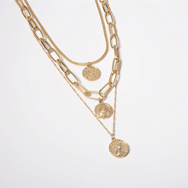 COIN MEDAGLIA III CHOKER & LAYERED NECKLACE