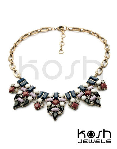 MIA STATEMENT NECKLACE - BLUE