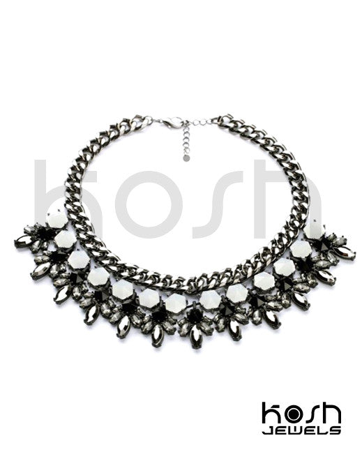 MIDNIGHT MOON STATEMENT NECKLACE
