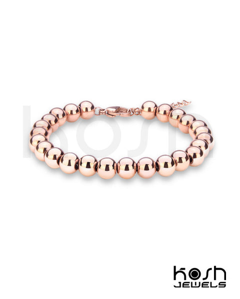 MINI CLASSIC STAINLESS STEEL BEADED BRACELET