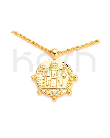 COIN PENDANT NECKLACE - VICTORIA