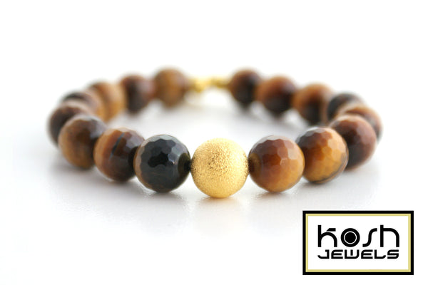 STARDUST SERIES SIGNATURE BEADED BRACELET - TIGERSEYE