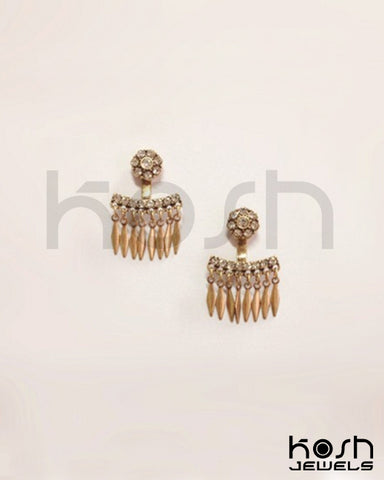 CHERIE FRINGE JACKET & STUD EARRINGS