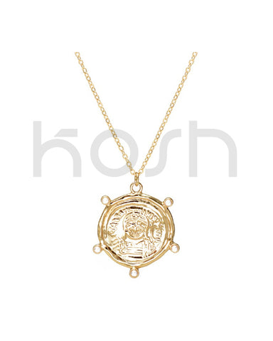 COIN PENDANT NECKLACE - HARBOUR