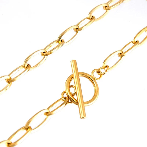 TOGGLE LINK CHOKER NECKLACE