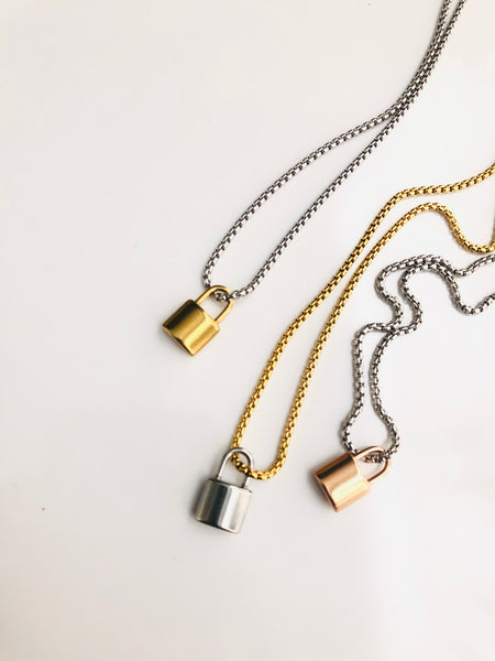 MINI PADLOCK LOCK NECKLACE