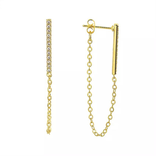 CHAIN DROP EARRINGS - ZARA USE ZARA10 at CHECKOUT