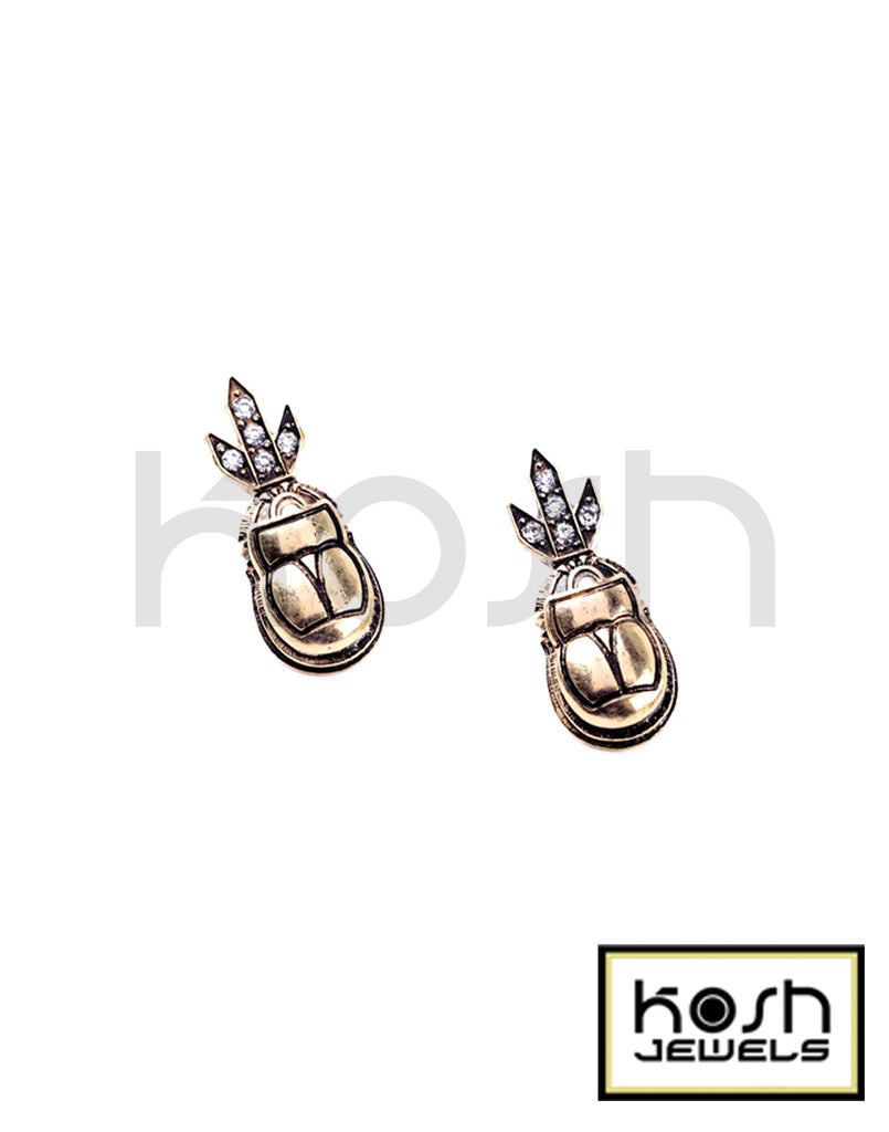 SCARAB DROP EARRINGS