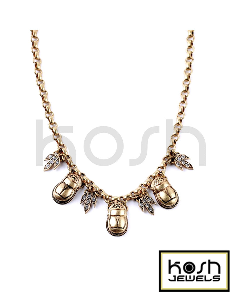 SCARAB STATEMENT NECKLACE