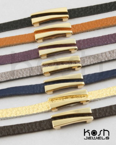 LUXE BAR LEATHER  BRACELET