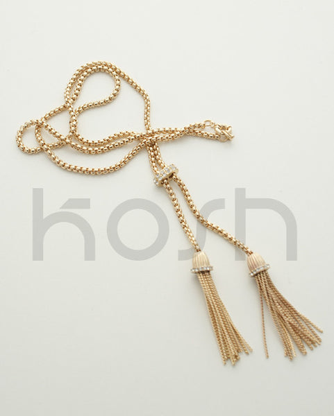 LUXE DOUBLE TASSEL NECKLACE