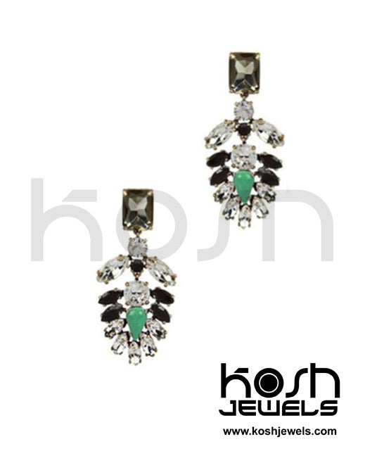 MINT LIGHTNING DROP EARRINGS