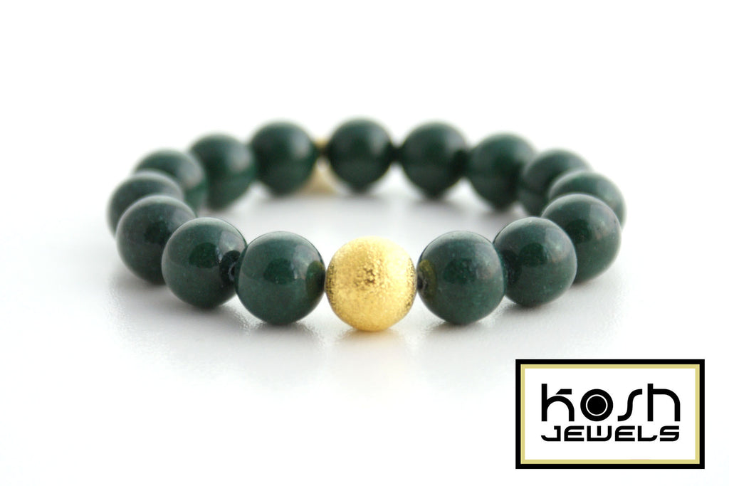 STARDUST SIGNATURE BEADED BRACELET - MOUNTAIN GREEN JADE
