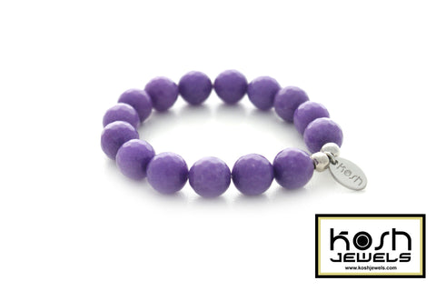 CHALK PURPLE SIGNATURE BEADED BRACELET
