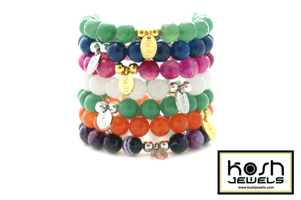 RAINBOW COLLECTION 10mm- Signature Beaded Bracelet
