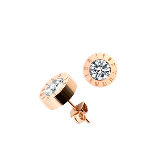 XXVI STUDS - ROSE GOLD