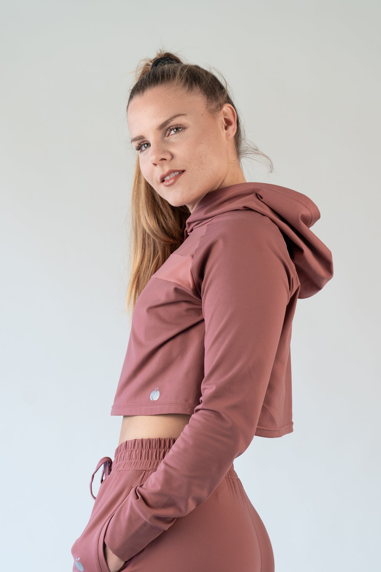 """Visionary"" Cropped Hoodie - Antique Rose"