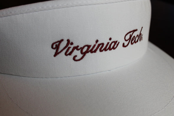 Virginia Tech Script Visor