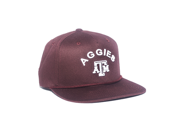 Texas A&M University Classic Retro Snapback Hat – Maroon